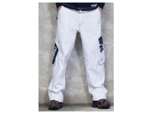 Малярные джинсы Flugger белые (100% cotton)
